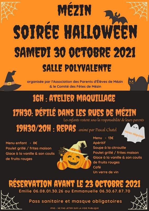 Soirée Halloween à Mézin